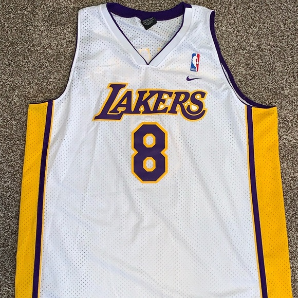 competitive price ccf38 3f7d8 Kobe Bryant Los Angeles Lakers Home Sunday White 8